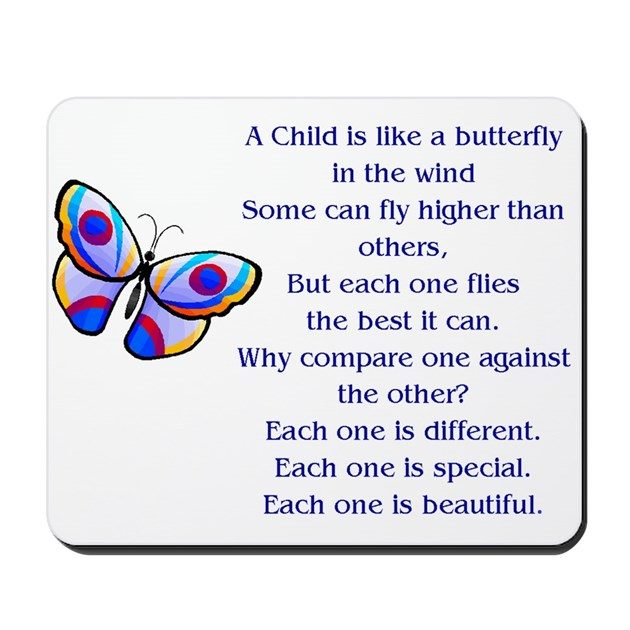 A Child Is Like A Butterfly Special And Beautifu By