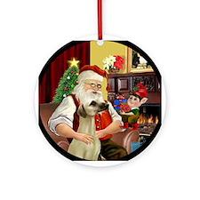 Santa's Sloughi Ornament (Round)