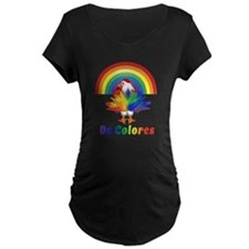 Rooster Tail No Background Maternity T-Shirt