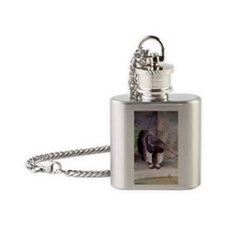 (11p) Giant Anteater Front Flask Necklace