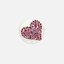 SKULL HEART VINTAGE Mini Button