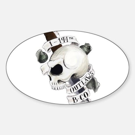 Cute Bravo Sticker (Oval)