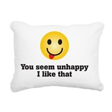 unhappy Rectangular Canvas Pillow