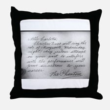 Phantom Note to Carlotta Throw Pillow