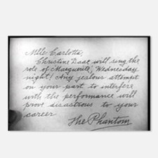 Phantom Note to Carlotta Postcards (Package of 8)