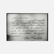 Phantom Note to Carlotta Rectangle Magnet