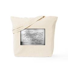 Phantom Note to Carlotta Tote Bag