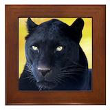 Black panther Framed Tiles