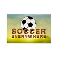 Soccer Everywhere Rectangle Magnet