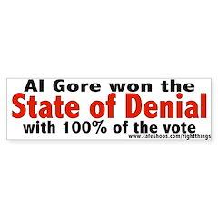 State of Denial Bumper Bumper Sticker