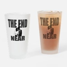 END IS NEAR png Drinking Glass