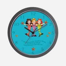 Mermaid Clock Wall Clock