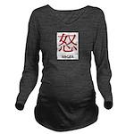Anger Long Sleeve Maternity T-Shirt