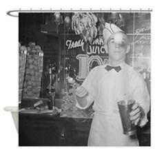 Soda Jerk Shower Curtain