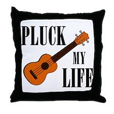 Pluck My Life (Uke) Throw Pillow