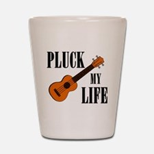 Pluck My Life (Uke) Shot Glass