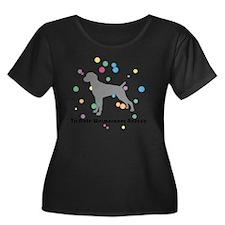 circlesg Women's Plus Size Dark Scoop Neck T-Shirt