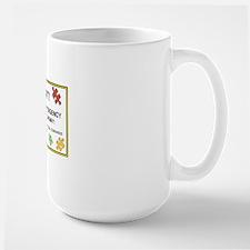autism warning for car Large Mug