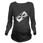 Razor Blade Long Sleeve Maternity T-Shirt