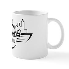 Large on White Mug