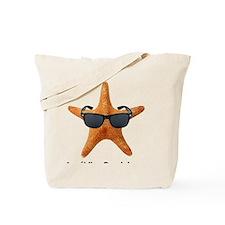 PCStarfishBIGBlack Tote Bag