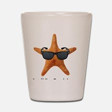 PCStarfishBIGBlack Shot Glass