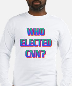 WHO ELECTED CNN(white).gif Long Sleeve T-Shirt