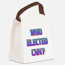 WHO ELECTED CNN(white).gif Canvas Lunch Bag