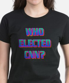 WHO ELECTED CNN(white).gif Tee