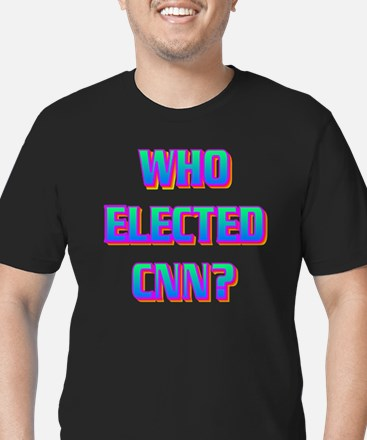 WHO ELECTED CNN(white) Men's Fitted T-Shirt (dark)