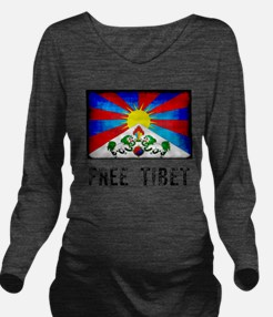 Free Tibet Long Sleeve Maternity T-Shirt