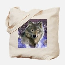 wolf 12x9 Tote Bag