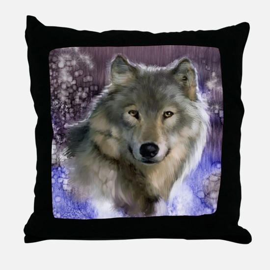 wolf 12x9 Throw Pillow