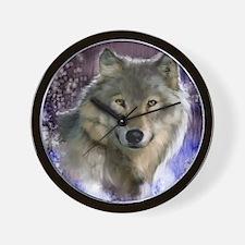 wolf 12x9 Wall Clock