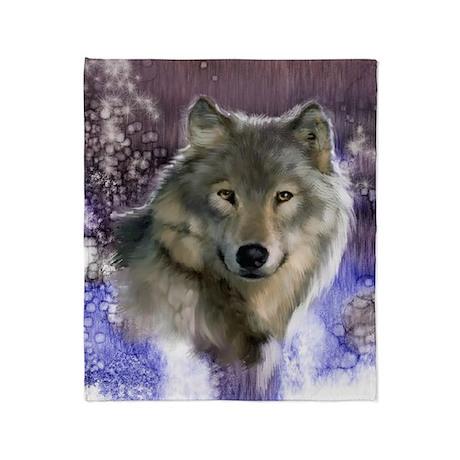 wolf 12x9 Throw Blanket