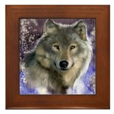 wolf 12x9 Framed Tile