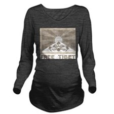 Vintage Free Tibet Long Sleeve Maternity T-Shirt