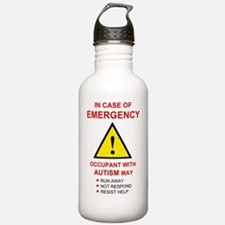 autism warning for hom Water Bottle