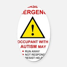 autism warning for home Oval Car Magnet