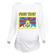 Free Tibet Long Sleeve Maternity T-Shirt