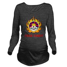 Flame Free Tibet Long Sleeve Maternity T-Shirt