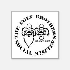"ugly bros logo Square Sticker 3"" x 3"""