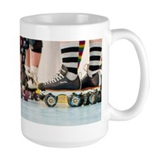 Rollergirls framed panel print Mug