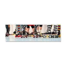Rollergirls framed panel print Car Magnet 10 x 3