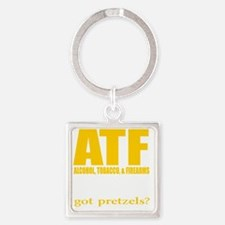 ATFdark Square Keychain