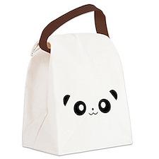 Peekaboo Panda Canvas Lunch Bag
