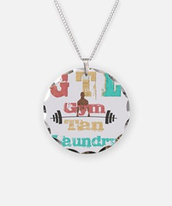 Gym Tan Laundry Necklace