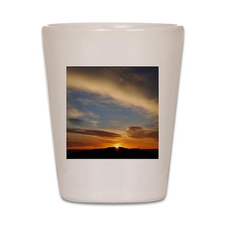 journo_sunrise Shot Glass