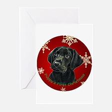 Thinker Black Lab Pup Greeting Cards (Pk of 10)