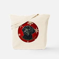 Thinker Black Lab Pup Tote Bag